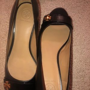 Tory Burch Kira open toed wedges 45mm